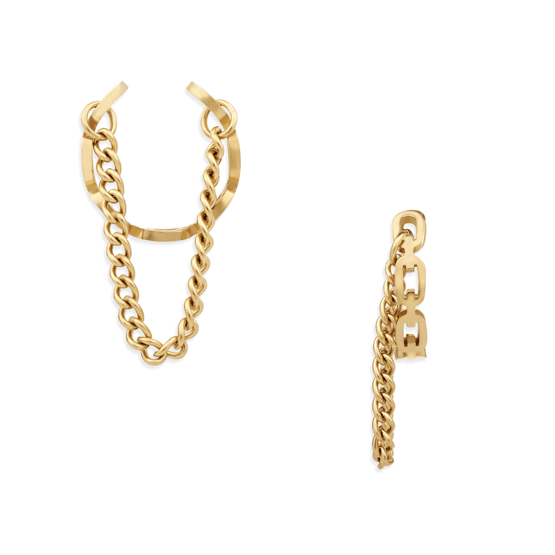 Ellie Vail - Billy Chain Ear Cuff Set Of 2