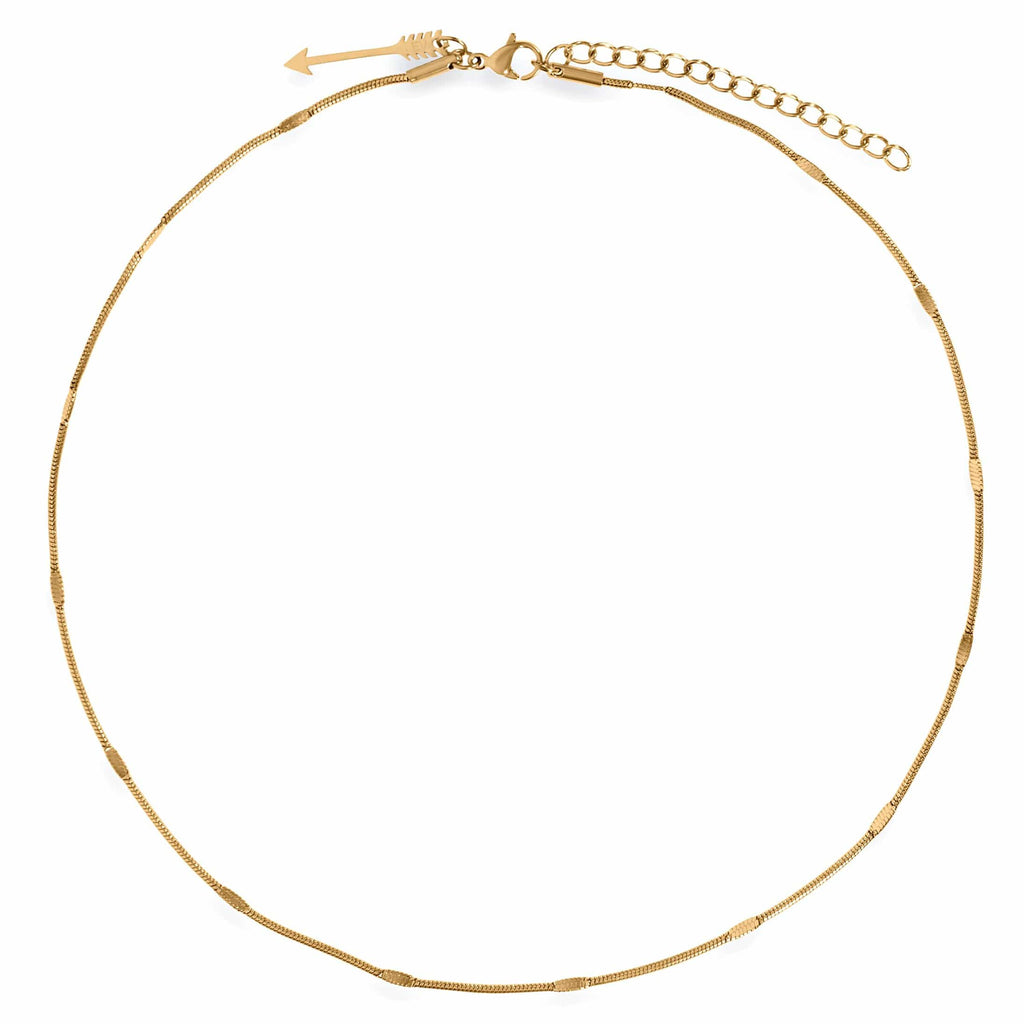 ELLIE VAIL - CAROLINA DAINTY SNAKE CHAIN CHOKER NECKLACE