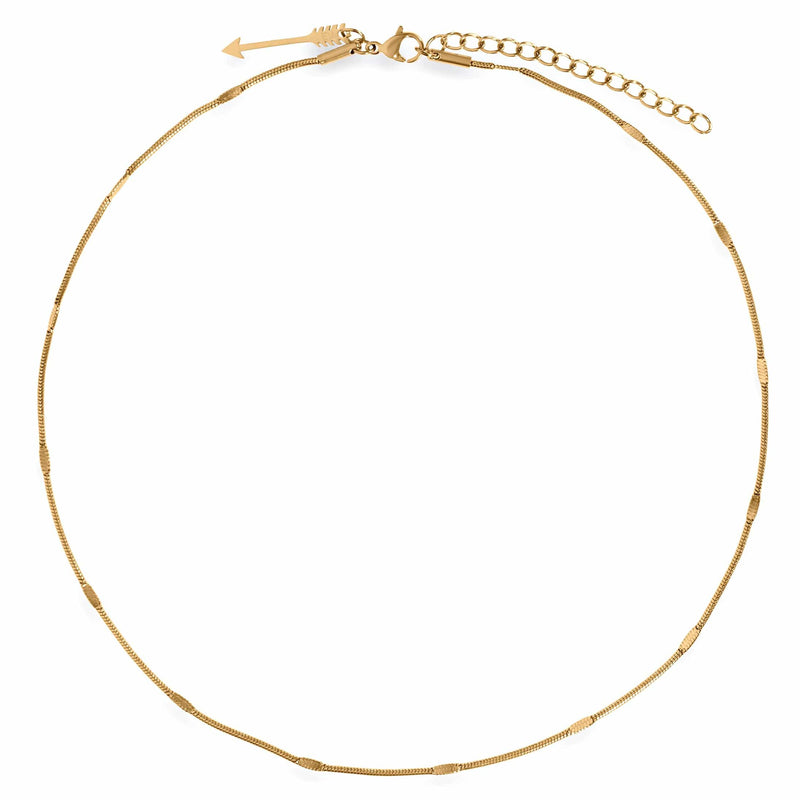 Ellie Vail - Carolina Dainty Round Snake Chain Choker Necklace