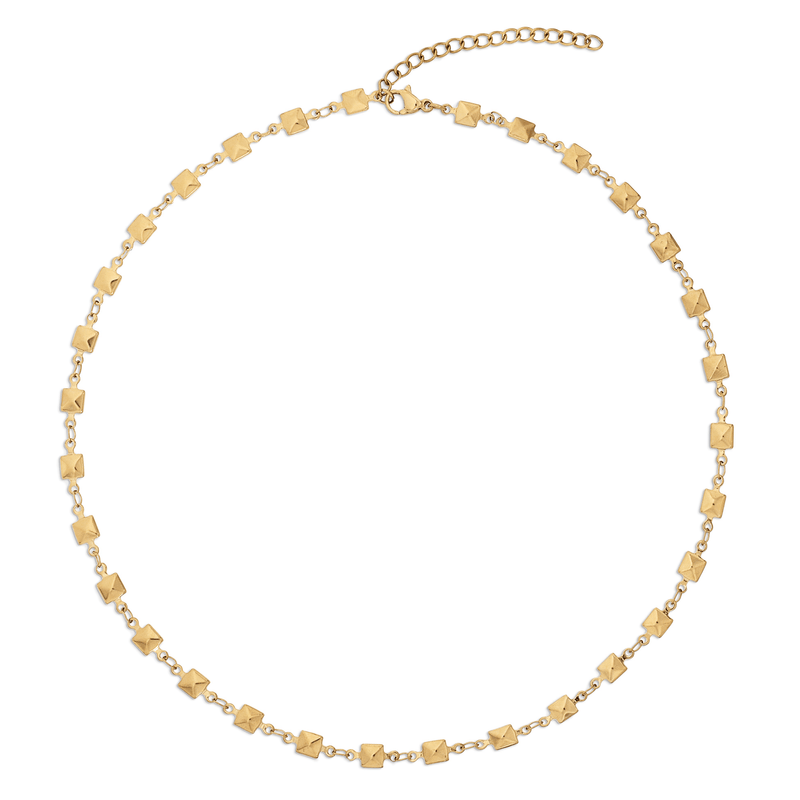 Ellie Vail - Colette Pyramid Stud Chain Necklace