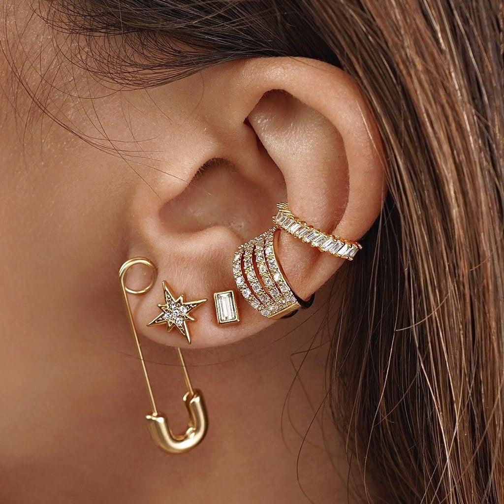 ELLIE VAIL - ABI SAFETY PIN EARRING