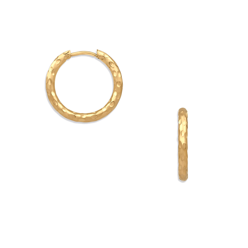 Ellie Vail - Indah Hammered Mini Hoop Earring