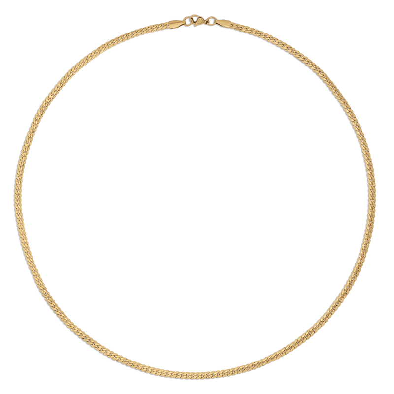 Ellie Vail - Jude Flat Curb Chain Necklace
