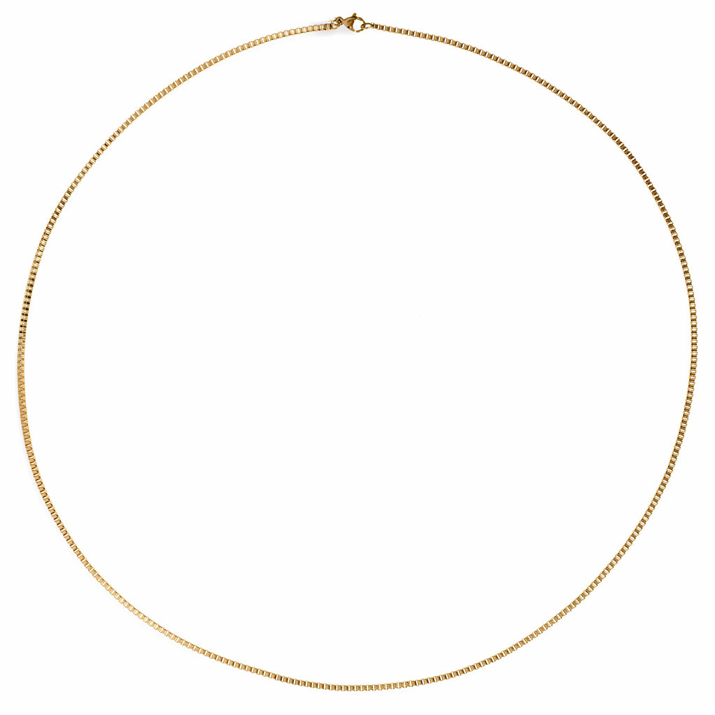 ELLIE VAIL - CAYLA THIN BOX CHAIN NECKLACE