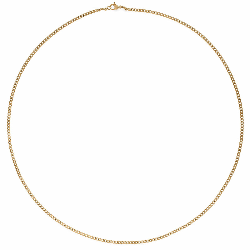 ELLIE VAIL - MONA THIN CURB CHAIN NECKLACE