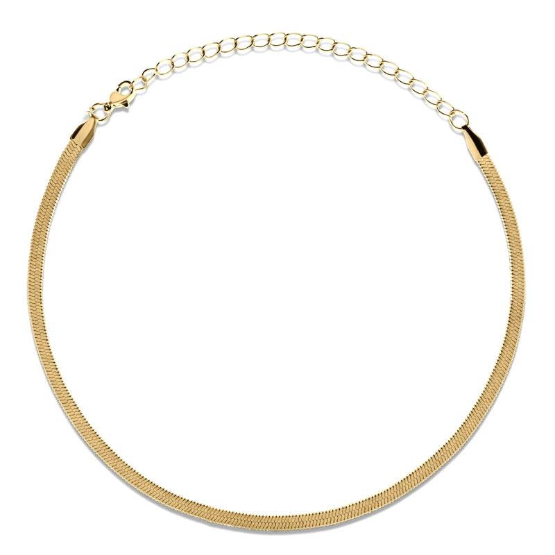 Ellie Vail - Nic Herringbone Chain Choker Necklace