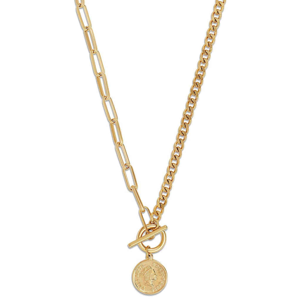 ELLIE VAIL - STACIE TOGGLE CHAIN COIN NECKLACE