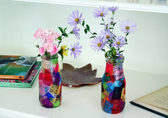 Mothers Day Tissue Paper Vase Kids Can Make