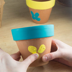 Mothers Day Thumb Print Flower Pot Kids Activity