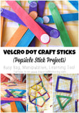 Velcro Dot Craft Sticks Kids Activity for Travel