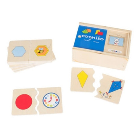 Beleduc Cognito Game Shapes | 20 Piece Wooden Set - My Creative Box