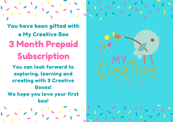 3 Month Prepaid Toddler Gift Subscription - My Creative Box
