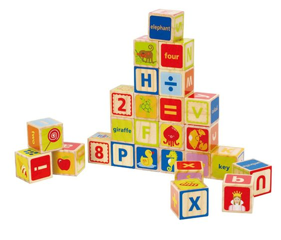 Hape ABC Blocks | 26 Pieces - My Creative Box