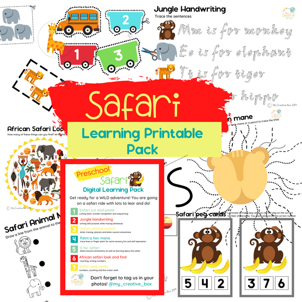 Preschool Safari Digital Learning Pack