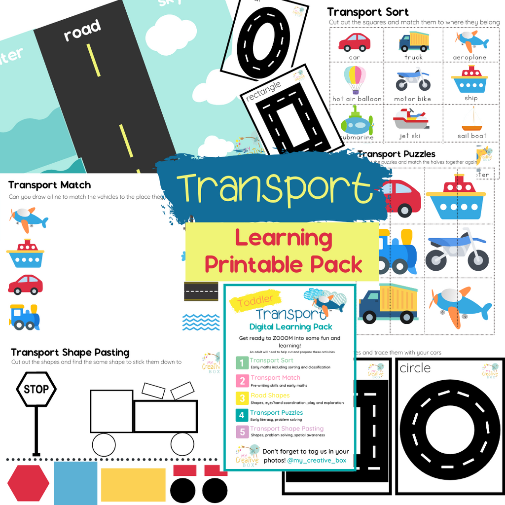 Toddler Transport Digital Learning Pack