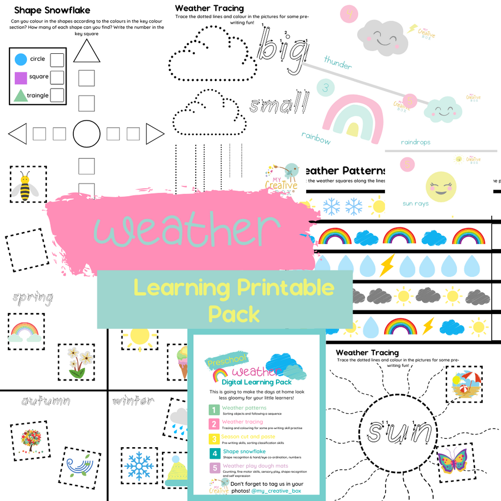 Preschool Weather Digital Learning Pack