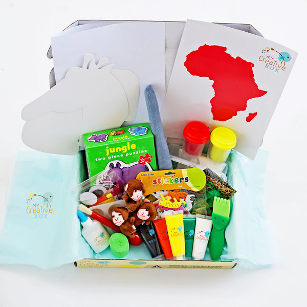 Mini Explorers African Safari Creative Box - My Creative Box