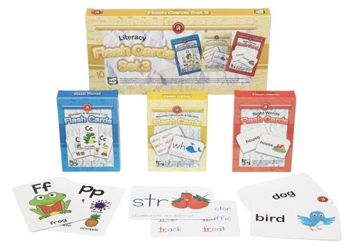 Literacy Flash Cards | Set of 3 | Ages 3 to 5+ Years - My Creative Box