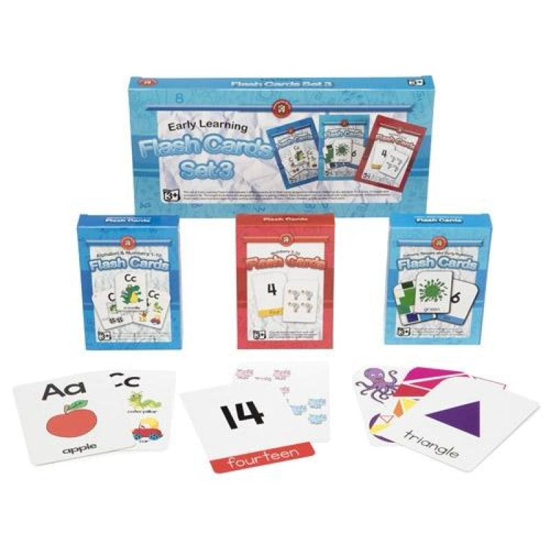 Early Learning Flash Cards | Set of 3 | Ages 3+ - My Creative Box