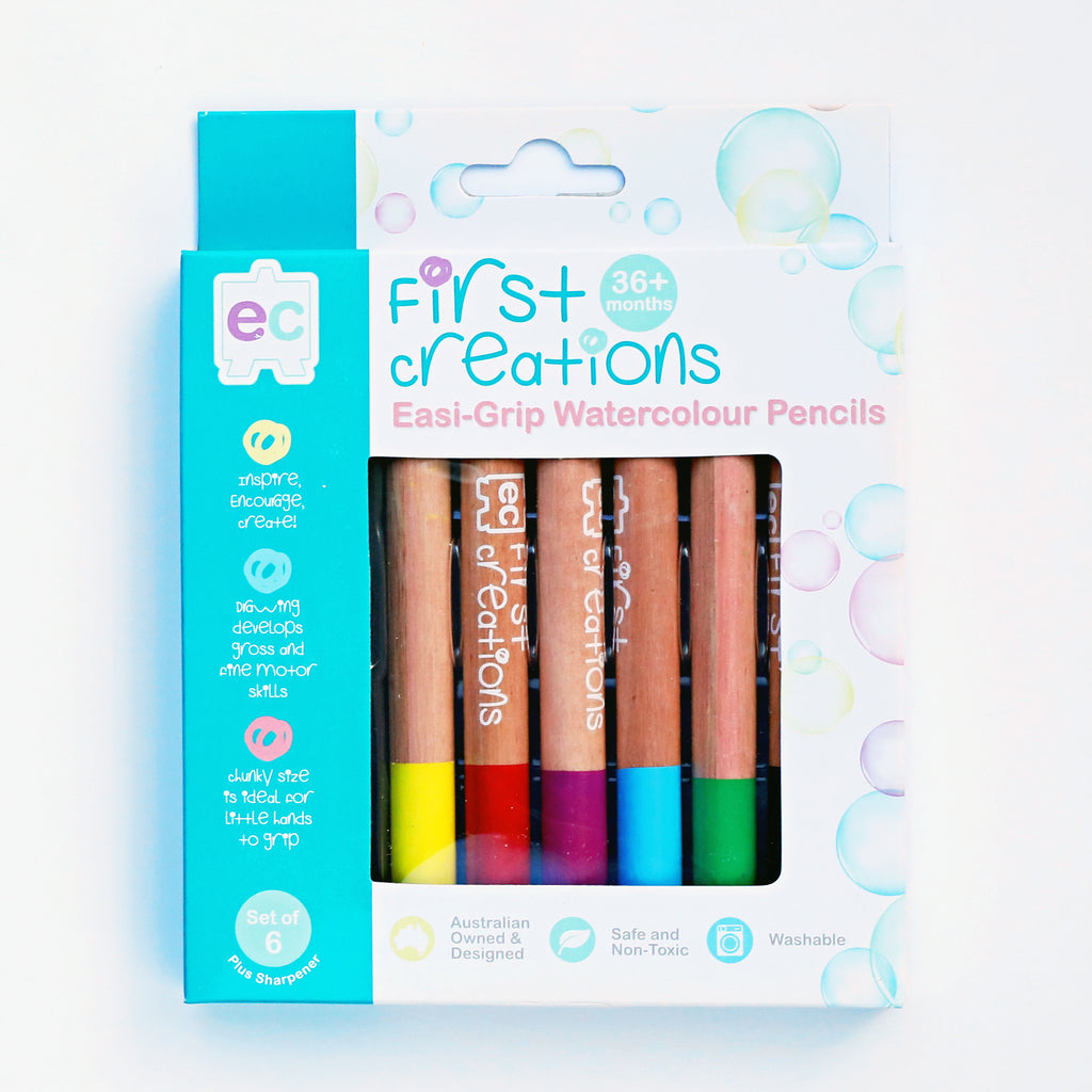 First Creations Easi-Grip Watercolour Pencils - My Creative Box