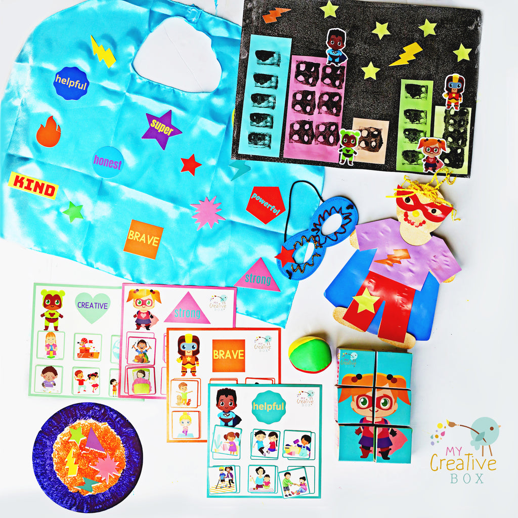 Little Learners Superheroes Creative Box - My Creative Box
