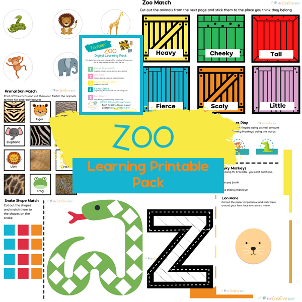 Toddler Zoo Digital Learning Pack