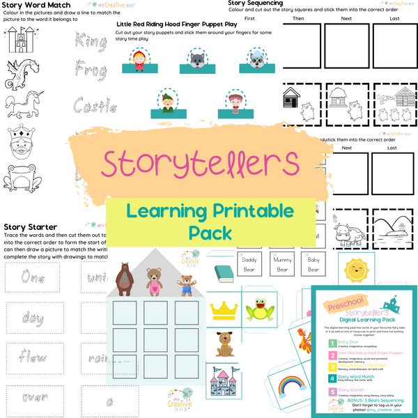 Preschool Storytellers Digital Learning Pack