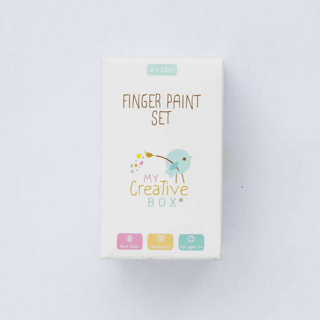 3 Finger Paint Set | Primary Colours - My Creative Box