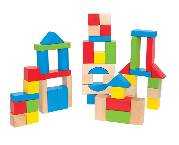 Hape Maple Block Set | 50 pieces - My Creative Box