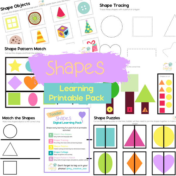 Toddler Shapes Digital Learning Pack