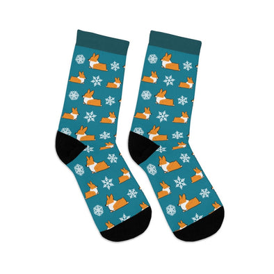 "NEW! ""Let It Snow"" Corgi Socks"