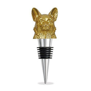 Stainless Steel Animal Gold Wine Stopper (Corgi)