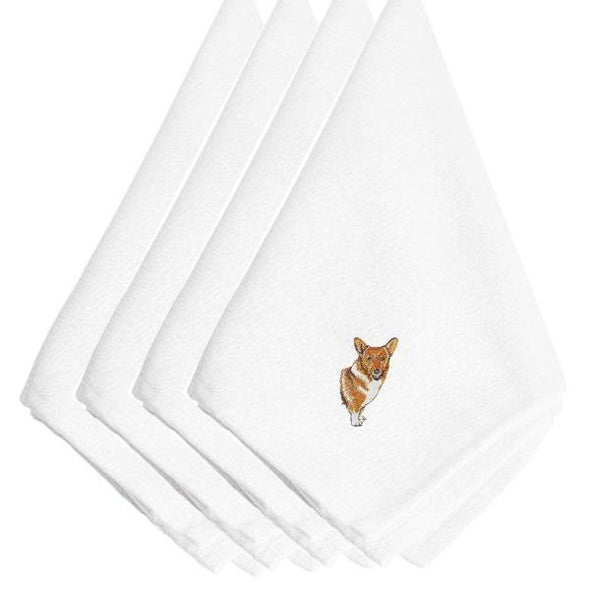 Corgi Embroidered Napkins