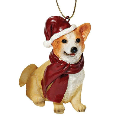 Design Toscano Corgi Christmas Ornament