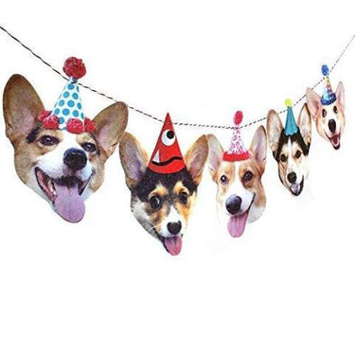 Corgis Birthday Party Banner Decoration by Rawbone Studio