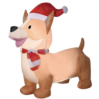 Holiday Time Inflatable Corgi Santa Hat 3.5 feet