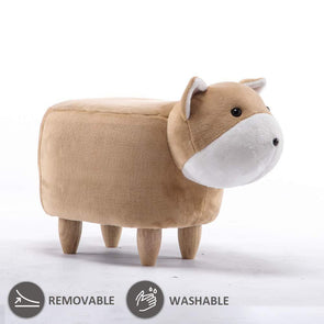 JOYBASE Washable Animal Ottoman Corgi