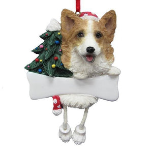 Welsh Corgi Ornament with Dangling Legs
