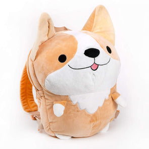638200801565 Smoko Cute Milo Plush Corgi Backpack