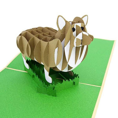 PopLife Corgi Puppy 3D Pop Up Greeting Card