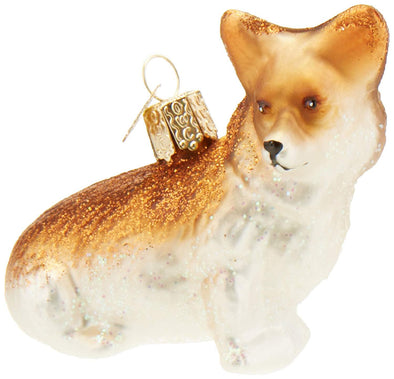Glass Corgi Ornament