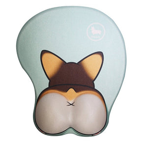 Nayo The Corgi Corgi Butt 3D Mouse Pad (Tri-Color)