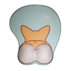 Nayo The Corgi Corgi Butt 3D Mouse Pad