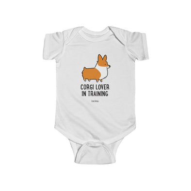 """Corgi Lover in Training"" Baby Bodysuit 