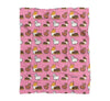 "NEW! Pink ""Alpaca Fren"" Tricolor Corgi Blanket 