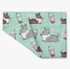 Mint Bubble Tea Cardigan Corgi Fleece Blanket | 3 Sizes
