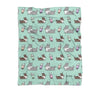 NEW! Mint Bubble Tea Cardigan Corgi Fleece Blanket | 3 Sizes