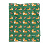 NEW! Football Corgis Fleece Blanket | 3 Sizes