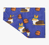 Tricolor Basketball Corgis Fleece Blanket | 3 Sizes