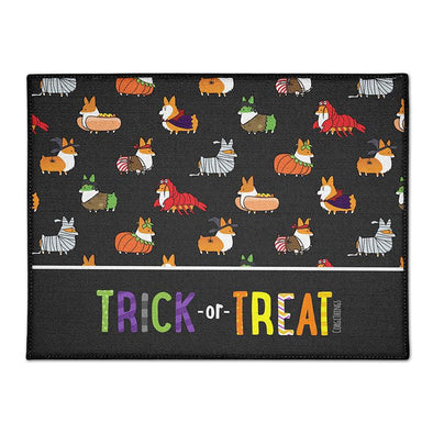 """Corgis in Costumes"" Trick-or-Treat Floor Mat 